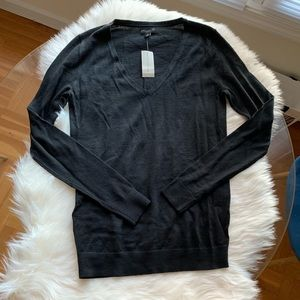 Ann Taylor Black V-Neck Sweater
